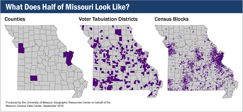 What does half of Missouri look like?
