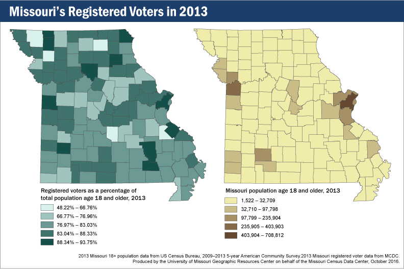 Missouri registered voters in 2013